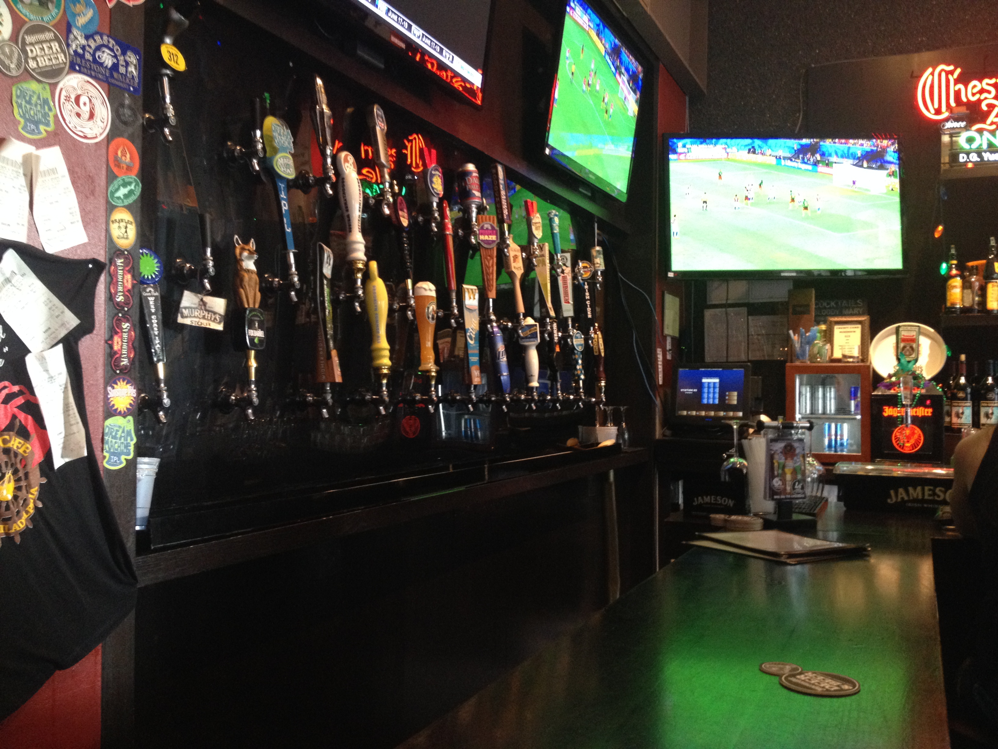Crabby cafe sports bar broke girls go out how cool is their tap wall amipublicfo Images